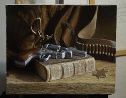2019-01-01 Gun and Bible 16x20 inch