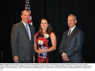 Local Executive Receives James W. Sanderson Memorial Award for Leadership