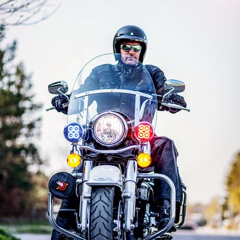 Harley Davidson Police Version in Action
