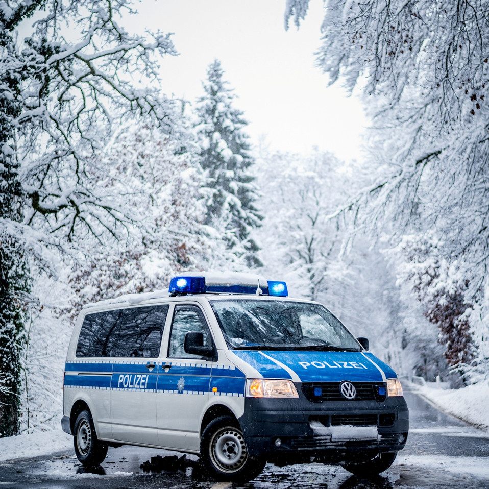 Bundespolizei VW T5 im Winter