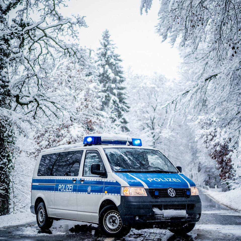 Bundespolizei VW T5 im Winter