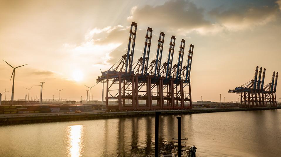 Hafenbecken in Hamburg