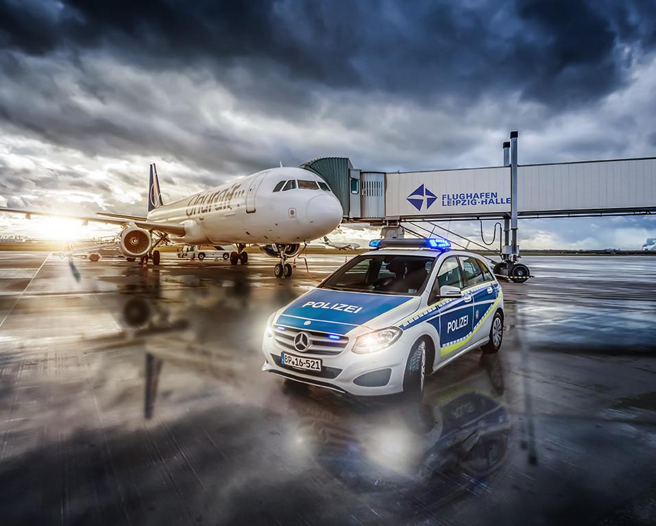 Leipzig Airport - Polizei Mercedes