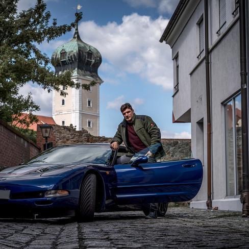 Corvette C5 mit Person
