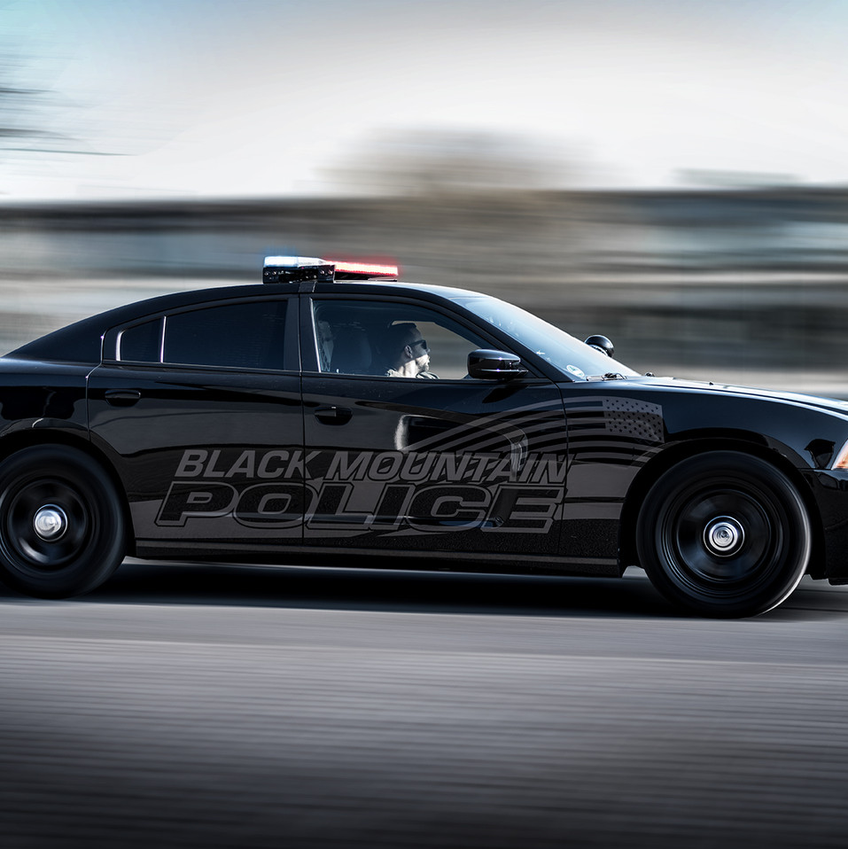 Black Mountain Police Car - Dodge Charger
