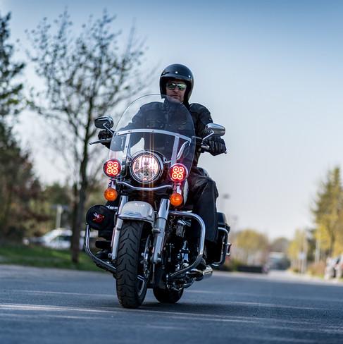 Police Officer with bike - Harley Davidson