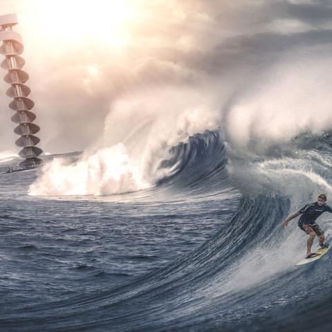 Surfing am Pegelturm