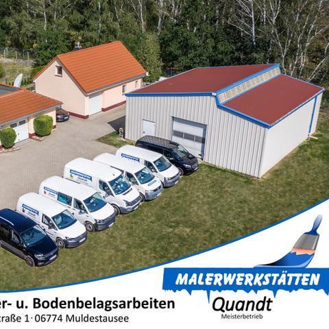 Luftbilder von Gelände und Gebäude