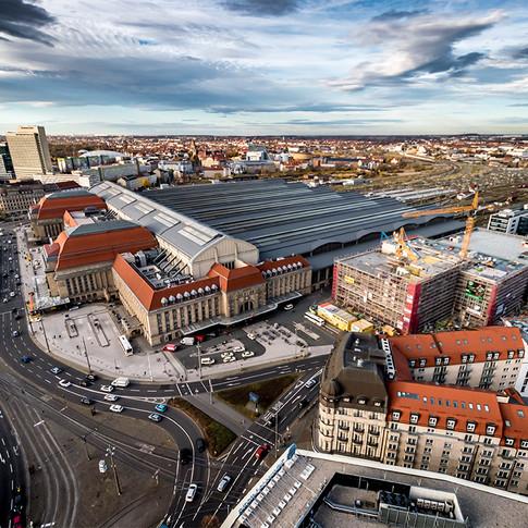 Leipziger Hauptbahnhof von Ost nach West