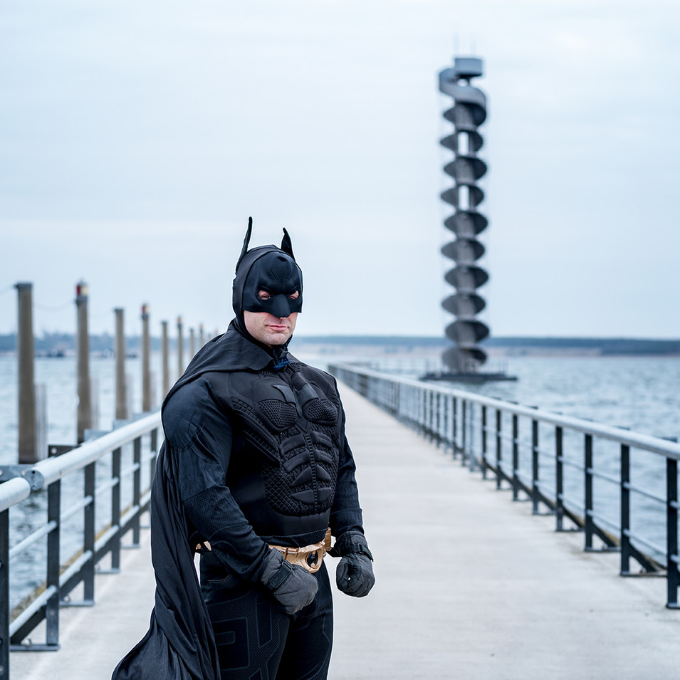 Bürgermeister Ferid Giebler als Batman
