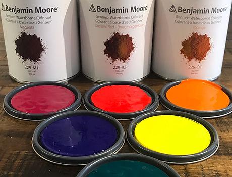 benjamin moore paint, gennex waterborne colorant, pigment, vibrant colours, regal, ben, aura, paint