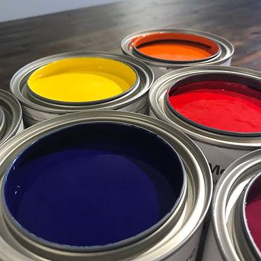 paint, benjamin moore paint, vibrant colour, paint tins, colour inspiration, pigment, gennex colourants, primary colours