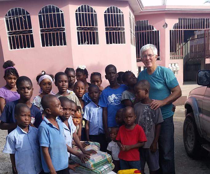 Children Receive Supplies
