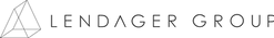 This image is the logo of LENDAGER GROUP, which is a 3D triangle outline on the left and LENDAGER GROUP in black text next to it.