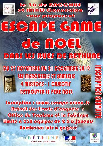 Affiche Escape Game Noel Béthune