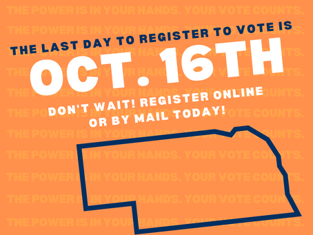 October 16th is the last day to register to vote online!
