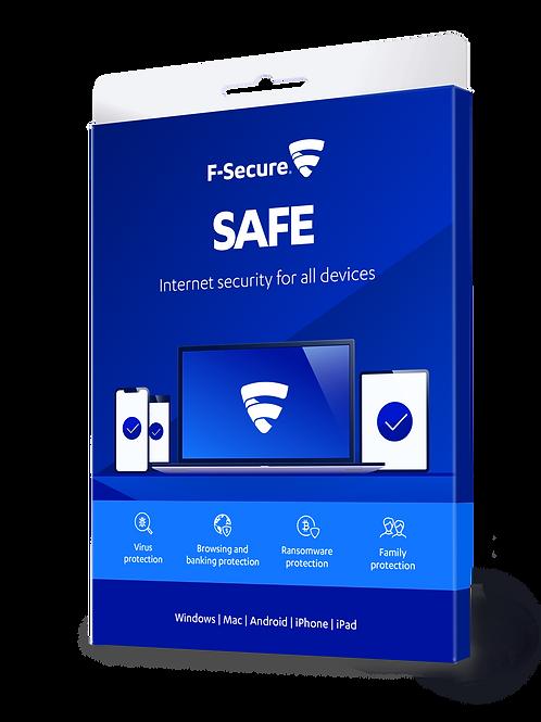 F secure Safe  3 Devices 12 Months Digital License.