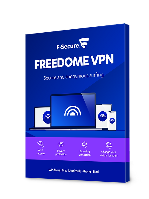 F secure Freedome VPN Only 12 Months 5 devices.