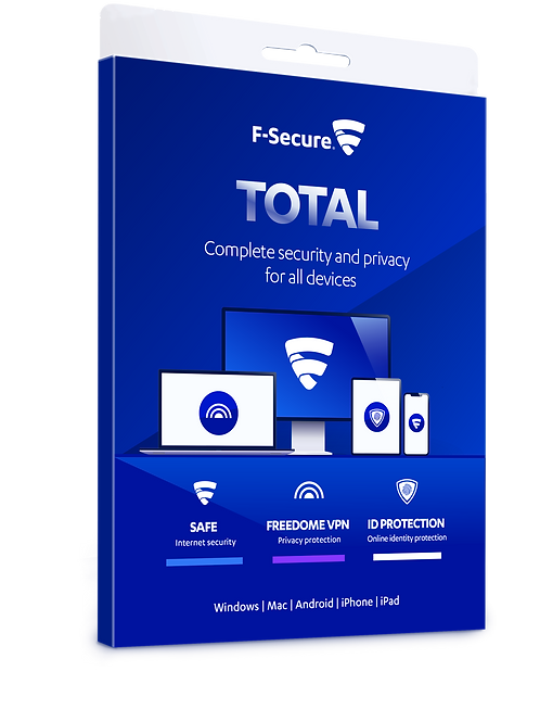 F Secure Total..inc. VPN, AV, identity protection 3 devices 24 Months