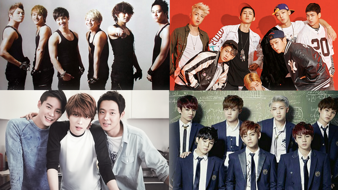 Los mejores grupos juveniles de pop de Corea del Sur y Japón.