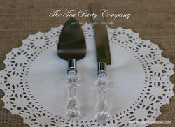 Clear Acrilyc  Cake Knife _ Server Set The Tea party Company