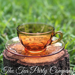 Amber Tea Cup Colored Glass Collection The Tea Party Company