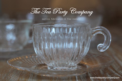 Clear Glass Tea Cup & Saucer Collection  The Tea Party Company (5)