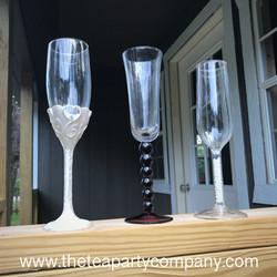 Mismatched Flute Collection Glassware  T