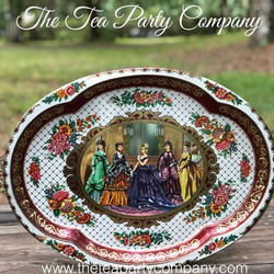 Vintage Tin Trays 6 The Tea Party Compan