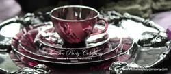 Purple Amethyst Teacup & Saucer