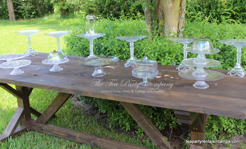 Clear Glass Cake Stands The Tea Party Company