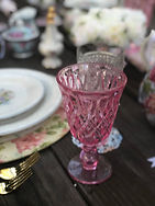 Vintage pink glassware shaby chic mother's day tea party