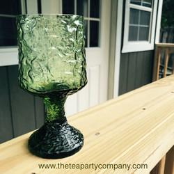 Colored Glassware Dark Green The Tea Par