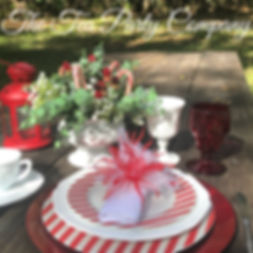 Candy Cane Table  Setting from The Tea P