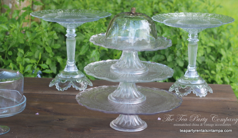 Clear Glass Cake Stands The Tea Party Company (4)