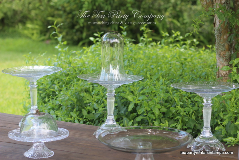 Clear Glass Cake Stands The Tea Party Company (6)