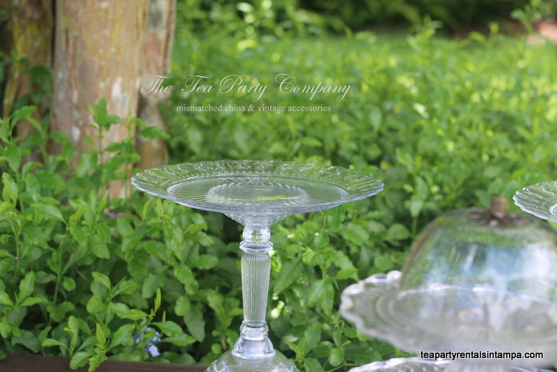 Clear Glass Cake Stands The Tea Party Company (8)