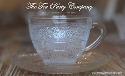 Clear Glass Tea Cup & Saucer Collection  The Tea Party Company (6)