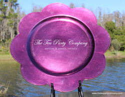 Purple Plastic Charger The Tea Party Company