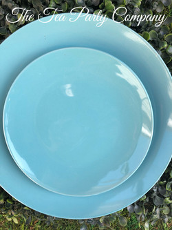Teal Dinner and Salad Plate The Tea Part