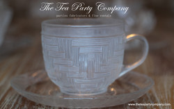 Clear Glass Tea Cup & Saucer Collection  The Tea Party Company (3)