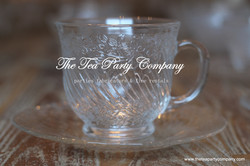 Clear Glass Tea Cup & Saucer Collection  The Tea Party Company (7)
