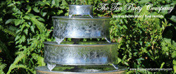 silverplated cake stands rentals The Tea Party Company