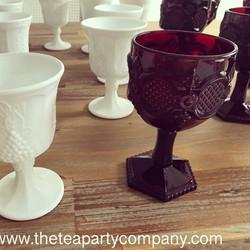 Colored Vintage Glassware The TEa PArty