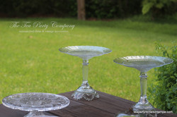 Clear Glass Cake Stands The Tea Party Company (7)