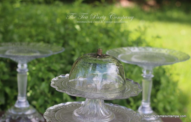 Clear Glass Cake Stands The Tea Party Company (9)