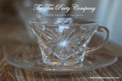 Clear Glass Tea Cup & Saucer Collection  The Tea Party Company (4)