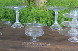 Clear Glass Cake Stands The Tea Party Company (5)