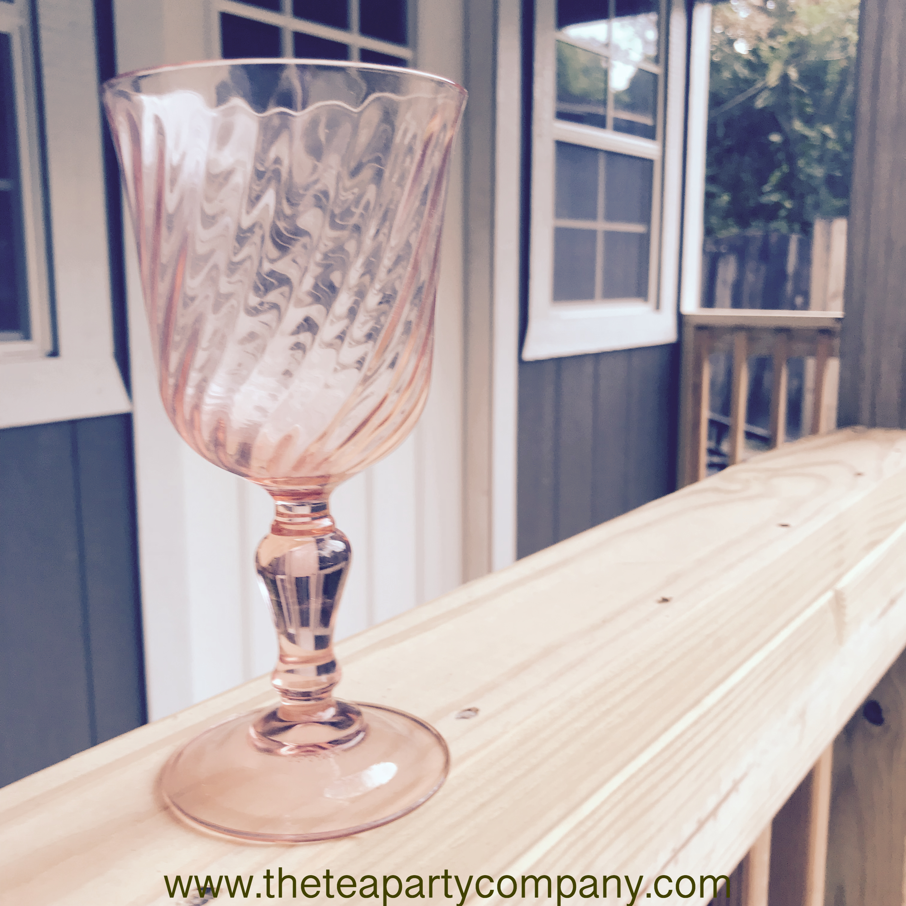 Colored Glassware Pink The Tea Party Com