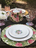 Victorian Rose Plate Set Up Shabby Chic Charger Mothers Day Tea Party The Tea Party Company